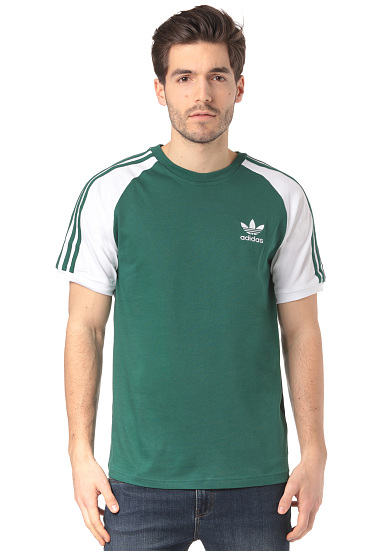 bdab79646aa ADIDAS ORIGINALS 3-Stripes - T-shirt voor Heren - Groen - Planet Sports