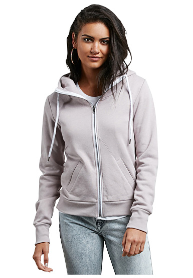 Volcom Walk On By Fleece - Chaqueta con capucha para Mujeres - Gris