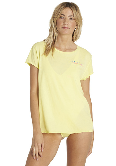 BILLABONG Beach Daze - Camiseta para Mujeres - Amarillo