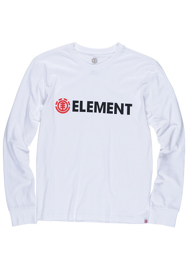Element Blazin - Camiseta de manga larga para Hombres - Blanco