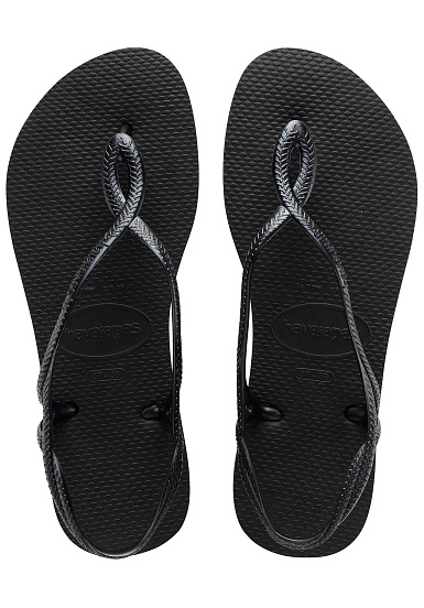 5604b5733 HAVAIANAS Luna - Sandals for Women - Black - Planet Sports