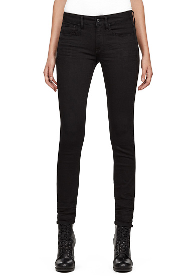 Femme Mid Skinny Jean Pour Deconstructed 3301 Noir G Star wy0ON8nvm