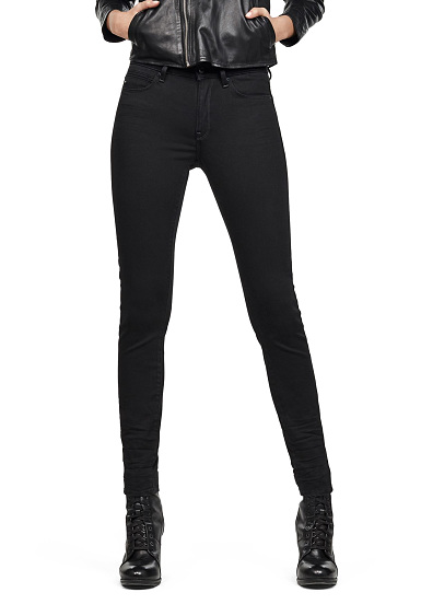 G-STAR G-Star Shape High Super Skinny Yield Ultimate Stretch - Vaqueros para Mujeres - Negro