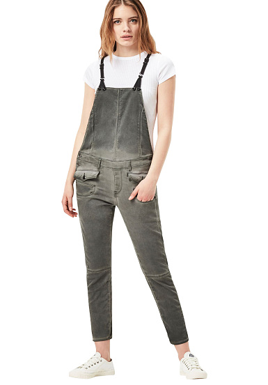 G Star Army Radar Skinny Jumpsuit For Women Grey Planet Sports