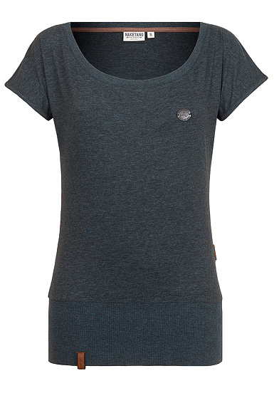 NAKETANO Dirty Wolle  Camiseta para Mujeres  Gris