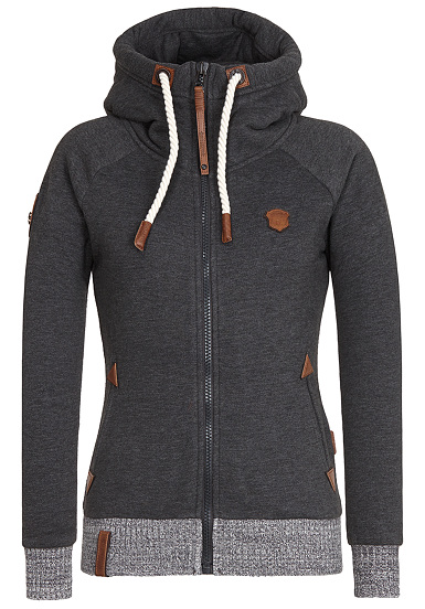 NAKETANO Every World Knows It  Chaqueta con capucha para Mujeres  Gris