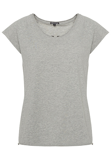 Chiemsee T Shirt inside/out Print Camiseta para Mujeres Gris