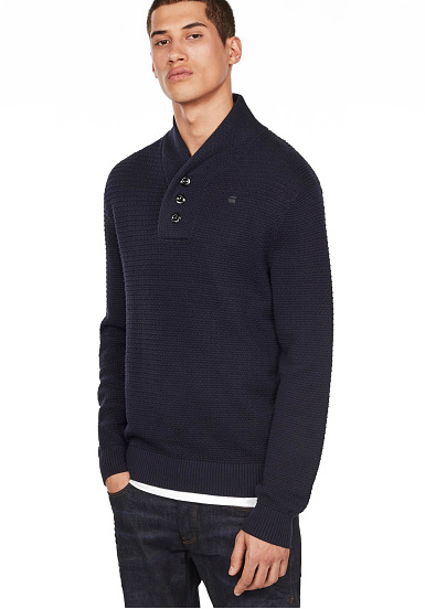 G-STAR Tain Shawl Structure Knitq - Jersey para Hombres - Azul