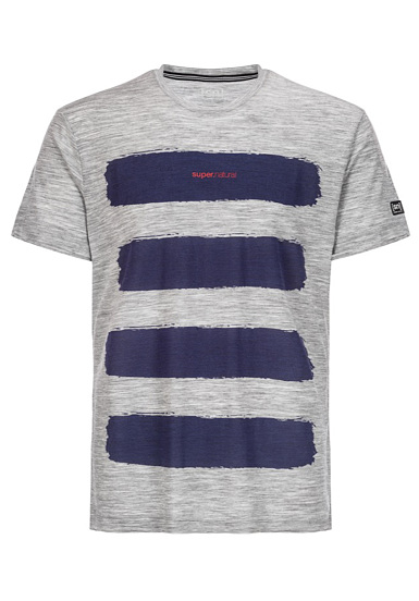 SUPER.NATURAL Graphic 140 - Camiseta para Hombres - Gris