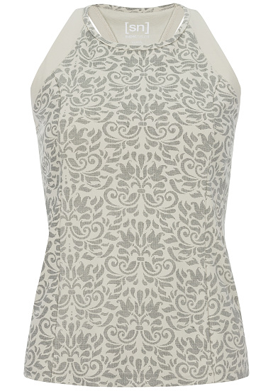 SUPER.NATURAL Motion Round Neck Printed Camiseta de tirantes para Mujeres Beige
