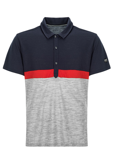 SUPER.NATURAL Three Tone - Polo para Hombres - Azul