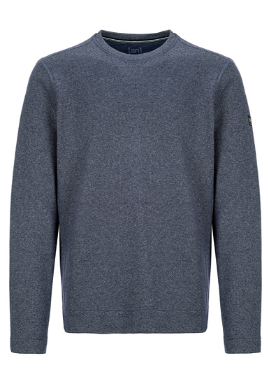 SUPER.NATURAL Vacation Knit Crew - Jersey para Hombres - Azul
