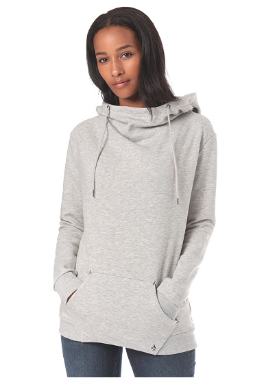 High Gris à Sweat By capuche Volcom pour Femme Neck Walk On qxgCtOp