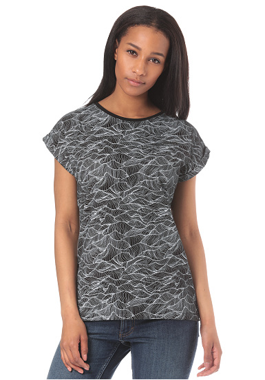 DEDICATED Visby Ink Waves - Camiseta para Mujeres - Negro