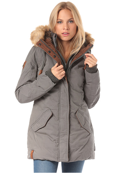 NAKETANO Kaktus Trifft Arschgeweih Jacket for Women Grey