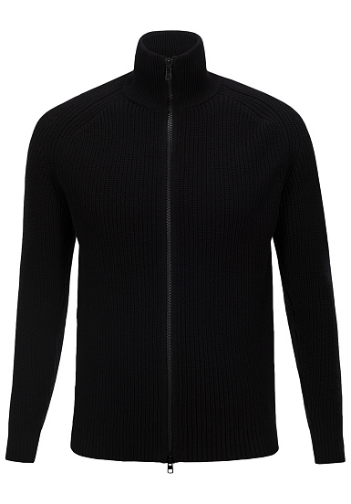 PEAK PERFORMANCE Curtis Zip - Cárdigan para Hombres - Negro