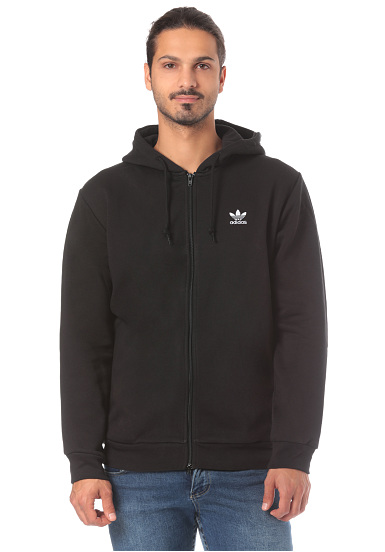 ADIDAS ORIGINALS Trefoil Hooded Jacket for Men Black