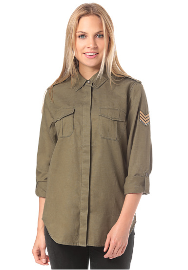 Roxy Military Influence - Shirt for Women - Green - Planet Sports 2209e8627e4