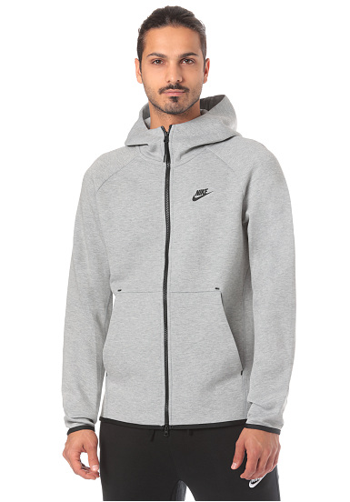 NIKE SPORTSWEAR Tech Fleece - Hooded Sweatshirt for Men - Grey ... d66cd6278
