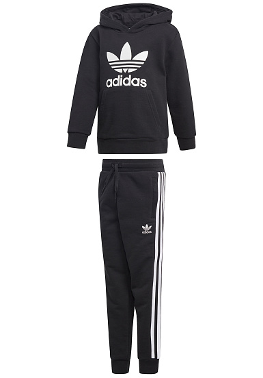 Planet L Sports Trefoil Noir Adidas Sweat Originals À Capuche qPP4Cxf