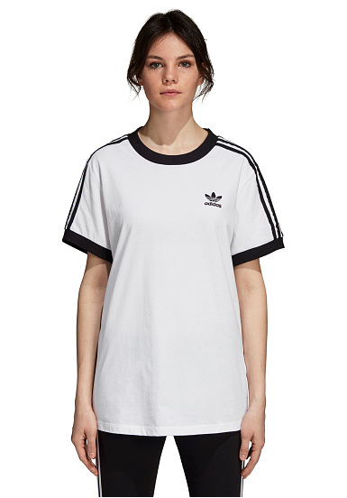 on sale various styles on wholesale ADIDAS ORIGINALS 3 Stripes - T-Shirt for Women - White
