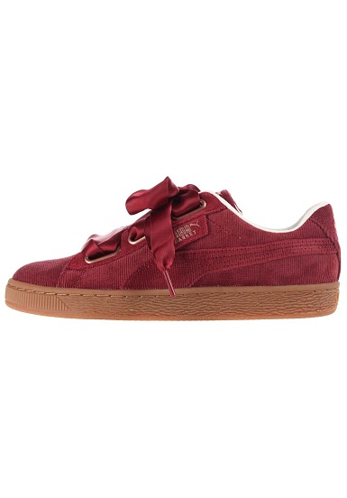 basket puma heart rouge