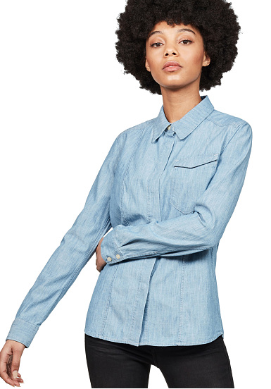 b7feadc7 G-STAR Tacoma Classic - Shirt for Women - Blue - Planet Sports