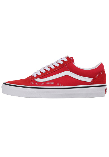Pour Vans Femme Rouge Skool Baskets Old 8nOvyNwm0