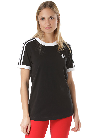ADIDAS ORIGINALS 3-Stripes - T-shirt voor Dames - Zwart