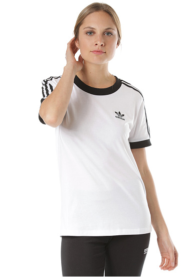 ADIDAS ORIGINALS 3-Stripes - T-shirt voor Dames - Wit