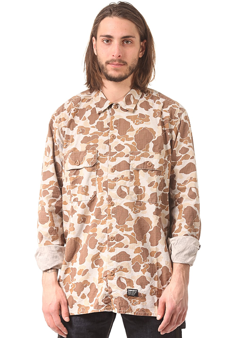 Carhartt WIP Mission L/S Hemd - Camouflage - M