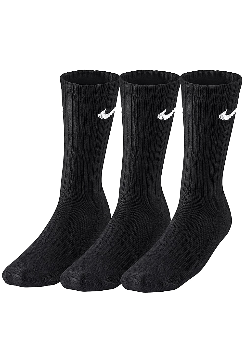 Nike Sportswear Value Cotton Crew 3 Pack - Socken für Herren - Schwarz