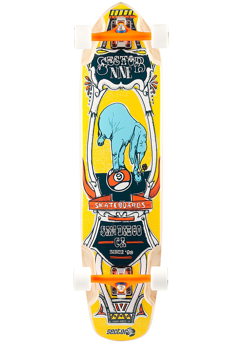 Planet Sports | Sector 9 Mini Daisy – Longboard – Gelb