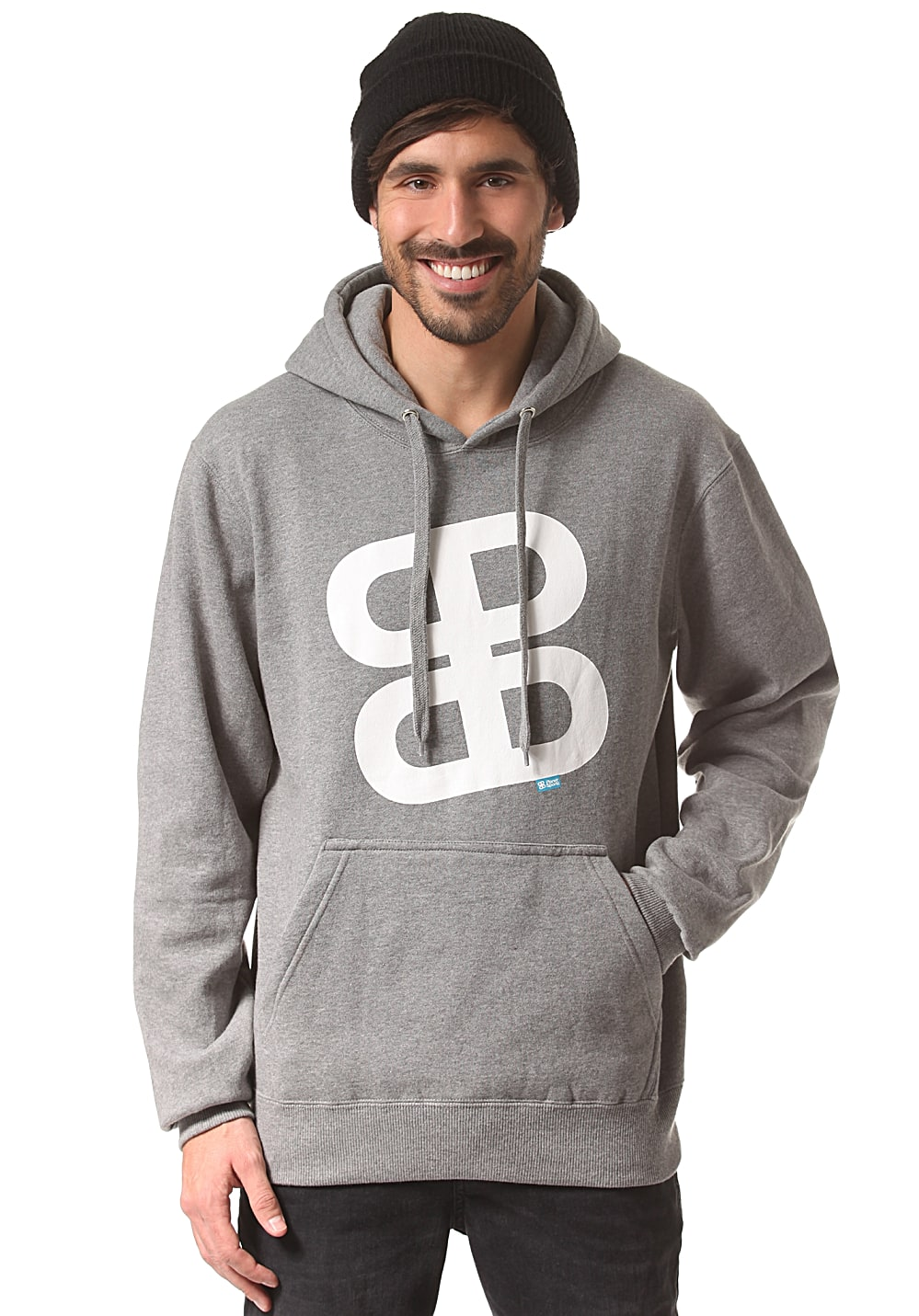 Planet Sports Icon Logo Regularfit - Kapuzenpullover für Herren - Grau