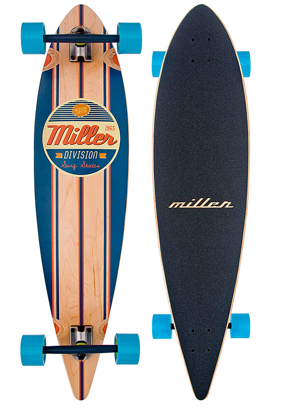 """MILLER Classic With Seismic Wheels 40"""" Longboard - Mehrfarbig - OneSize"""