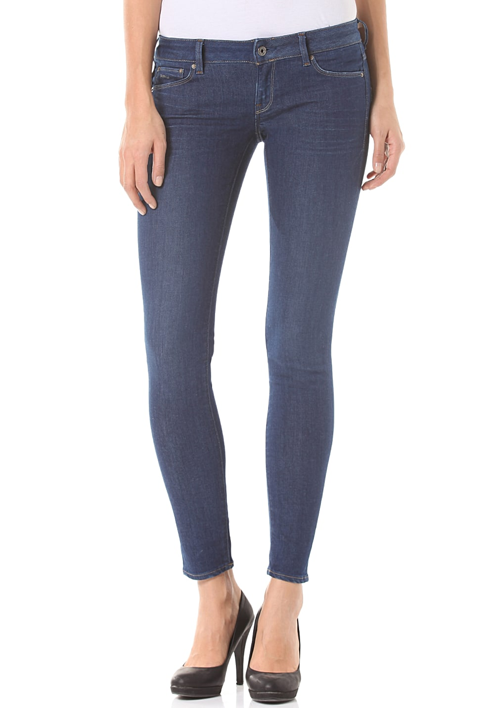G-Star 3301 Low Super Skinny Benwick Stretch - Jeans für Damen Blau