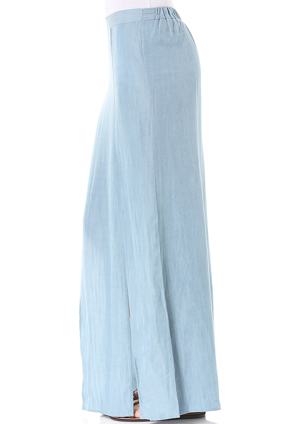 allabouteve Take Flight Denim Maxi - Rock für Damen Blau
