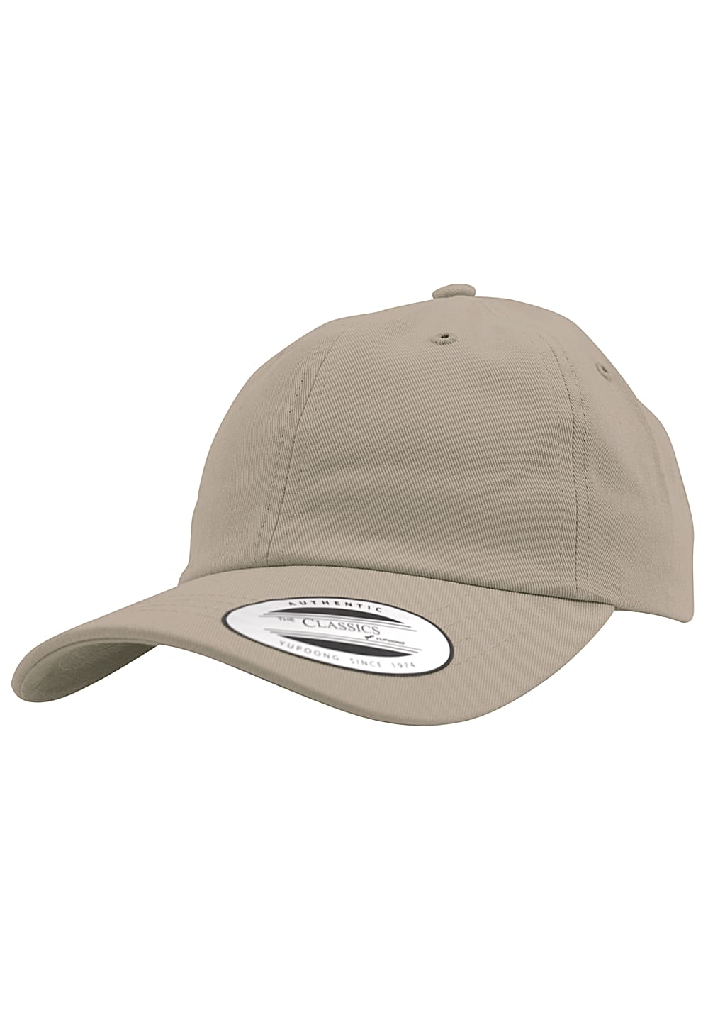 Flexfit Low Profile Cotton Twill Snapback Cap - Beige - OneSize