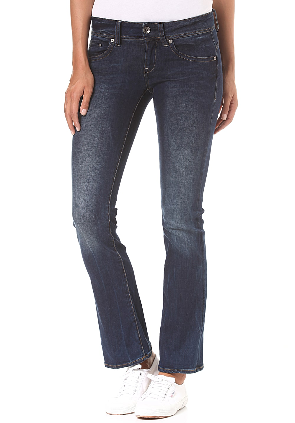 G-STAR RAW Midge Saddle Mid Skinny Bootcut Neutro Stretch - Jeans für Damen - Blau