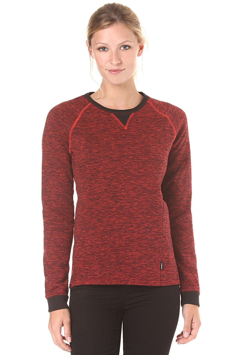 o neill oval sweatshirt f r damen rot g nstig. Black Bedroom Furniture Sets. Home Design Ideas