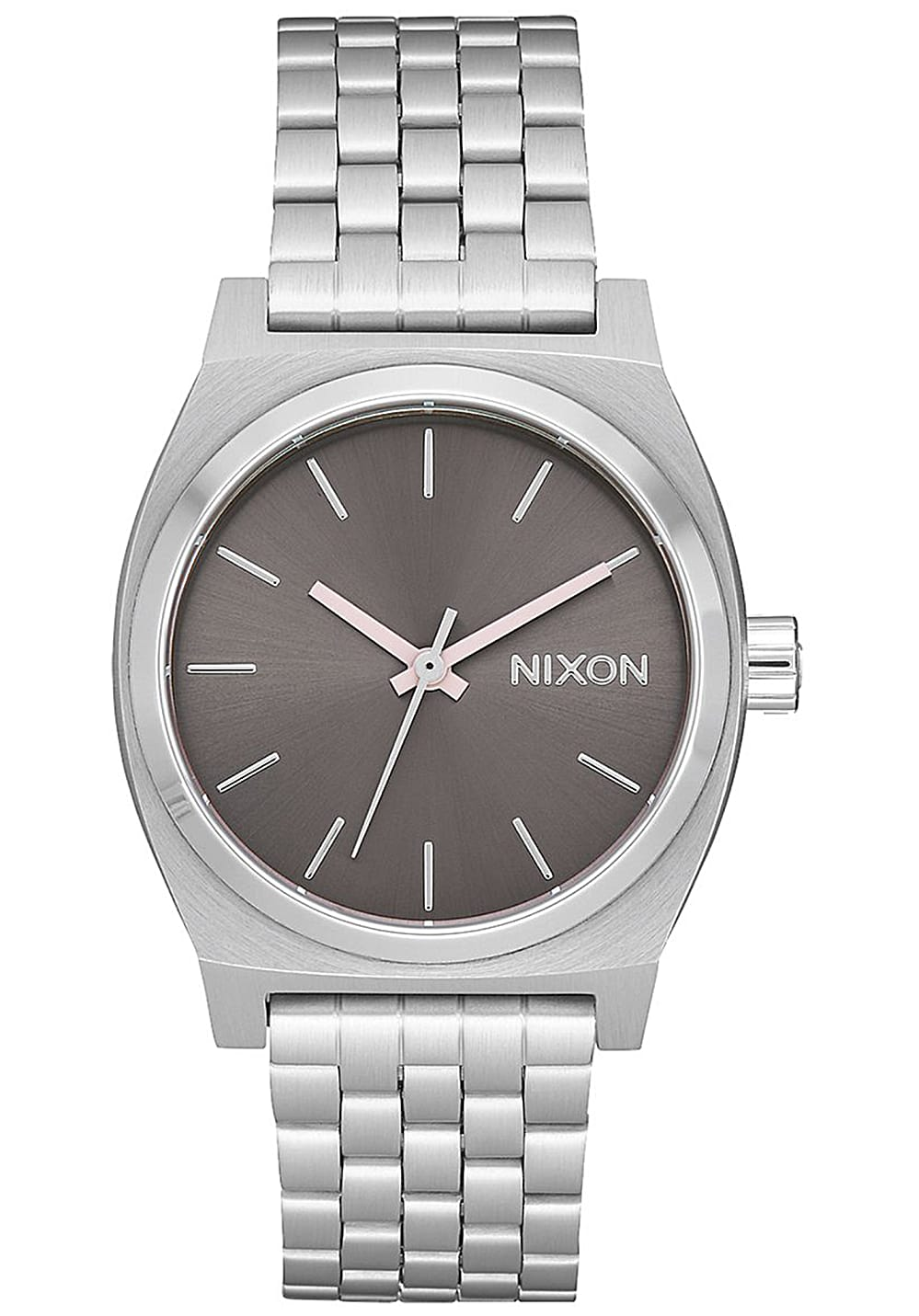 nixon medium time teller uhr f r damen silber lightning. Black Bedroom Furniture Sets. Home Design Ideas