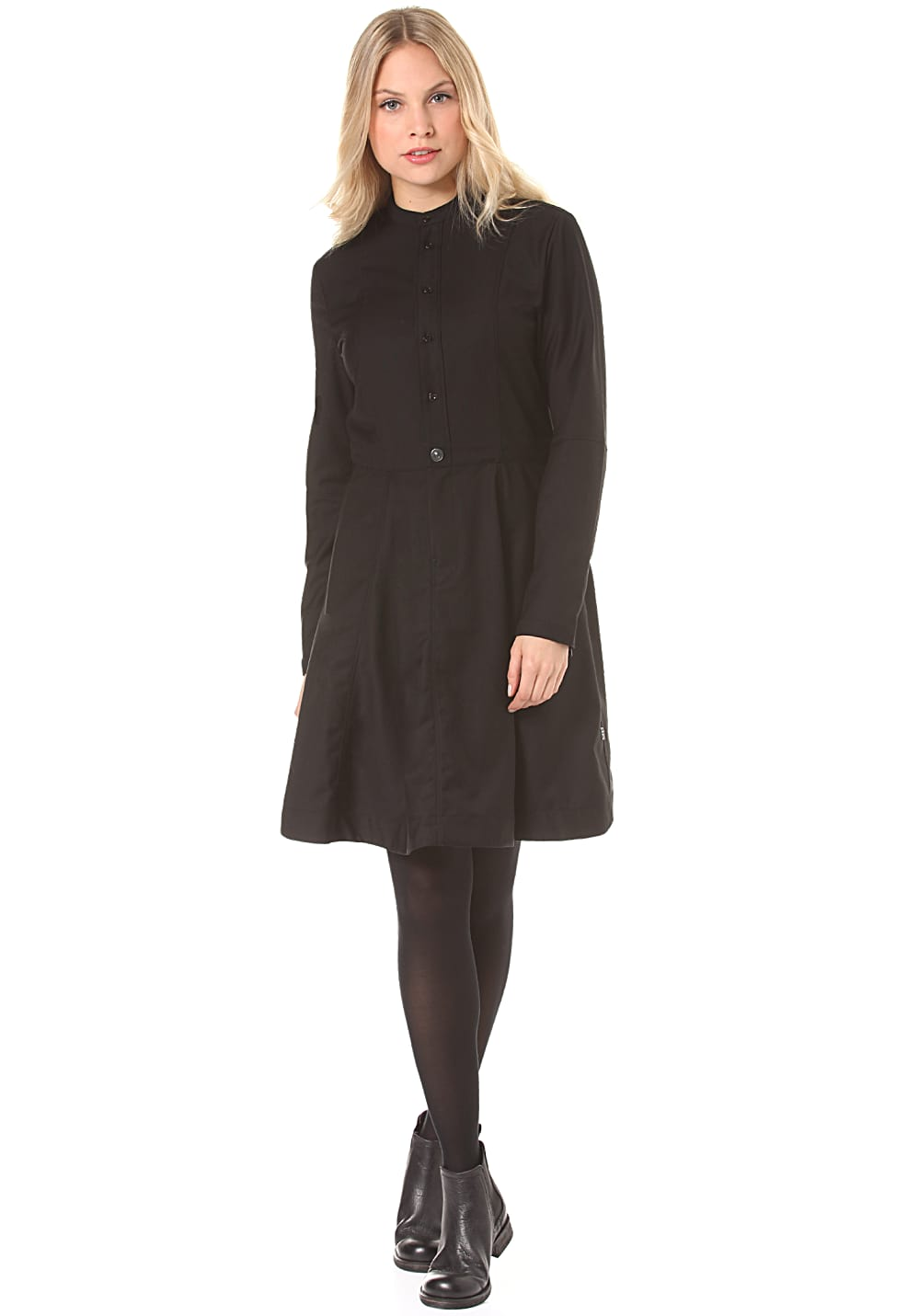 G-Star Core Flare Dress L/S Moncton Twill - Kleid für Damen - Schwarz