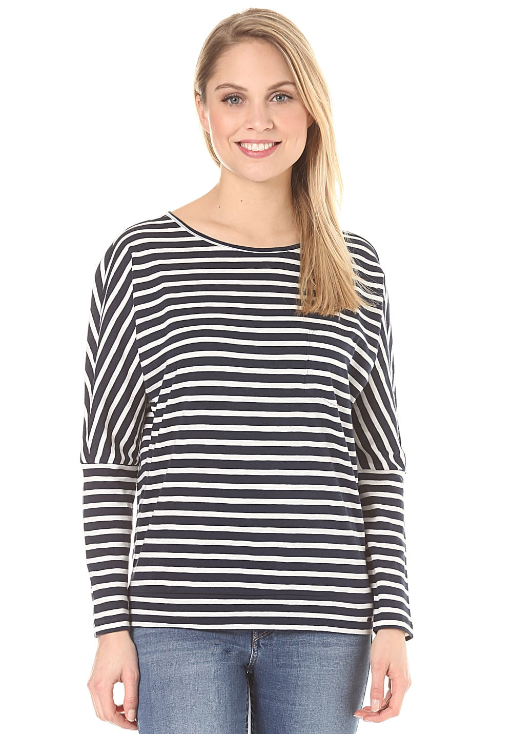 05c19d1eea601c -20% O'Neill Jacks Base Striped - Langarmshirt für Damen - Blau