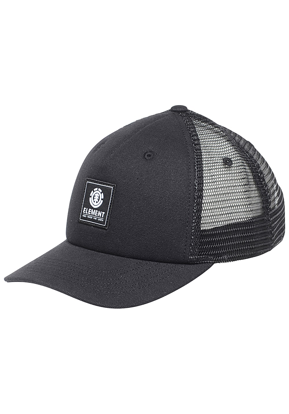 Element Icon Mesh Trucker Cap - Schwarz