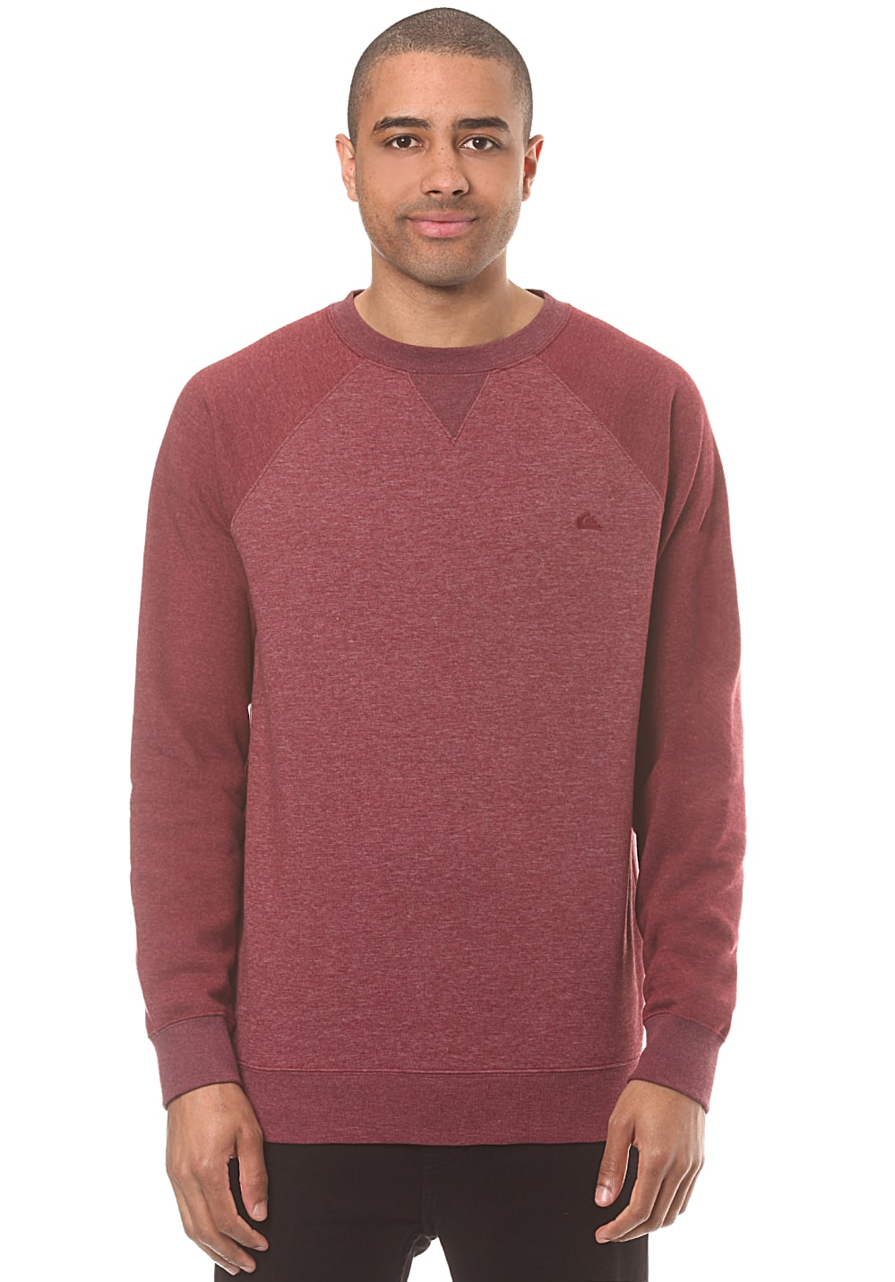 quiksilver everyday crew sweatshirt f r herren rot. Black Bedroom Furniture Sets. Home Design Ideas