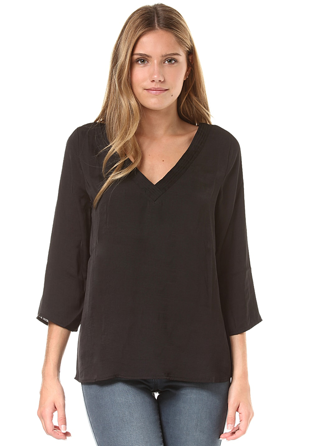 Vila Virustic Simple 3/4 Sleeve - Bluse für Damen Schwarz