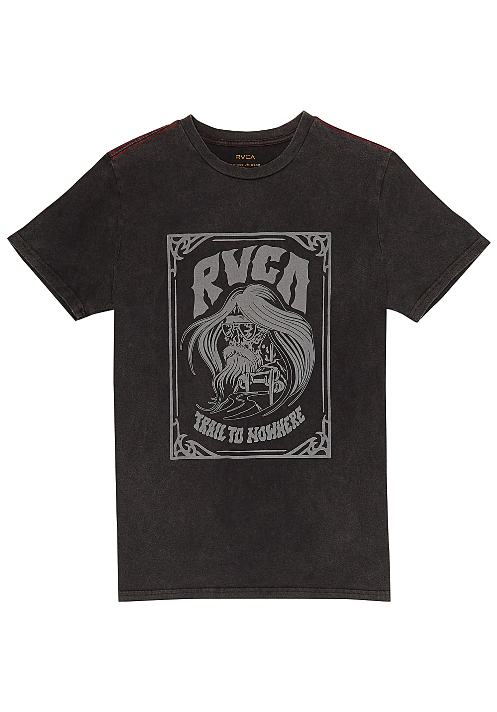 rvca trail to nowhere t shirt f r herren schwarz. Black Bedroom Furniture Sets. Home Design Ideas