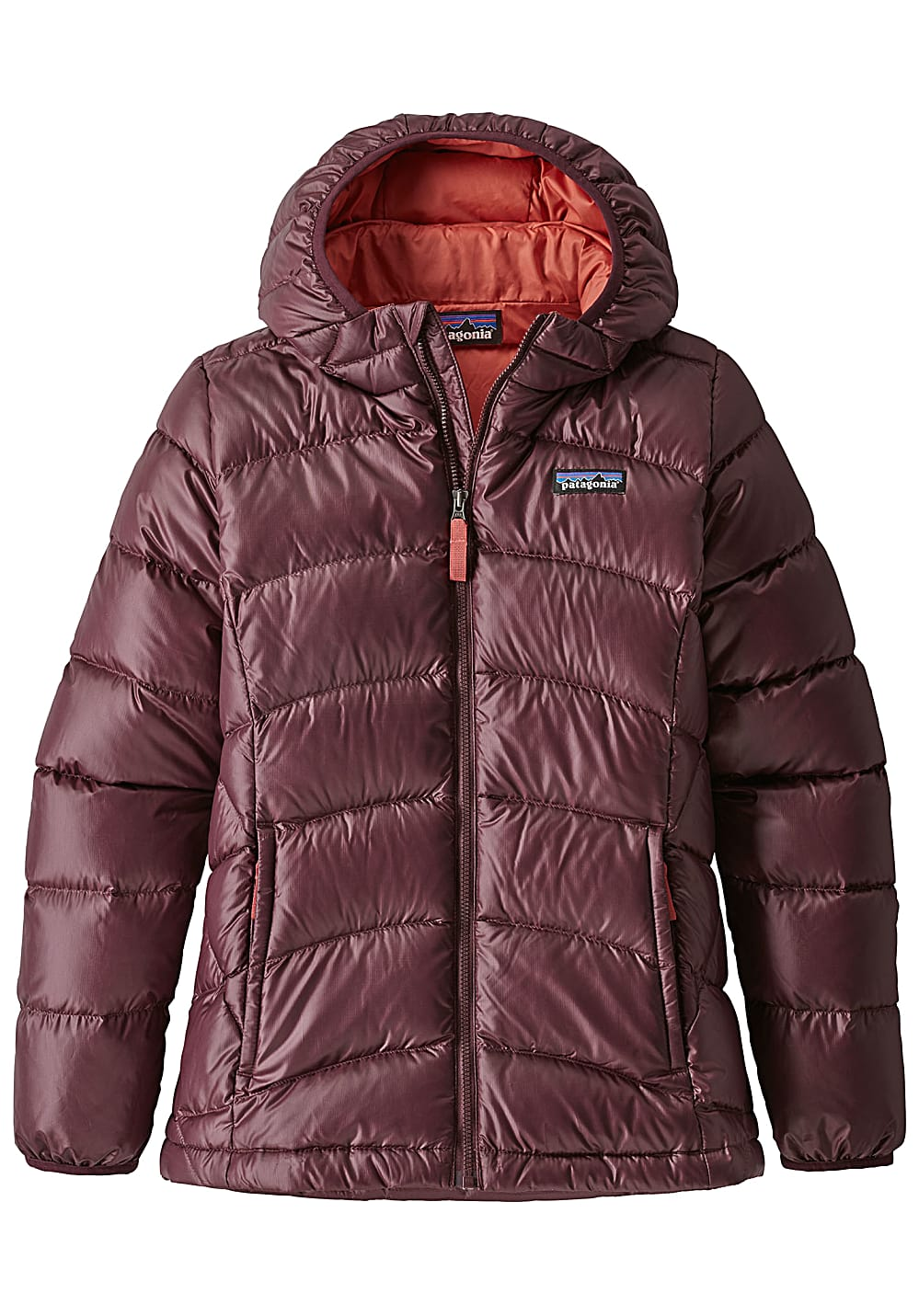 Girlsjacken - Patagonia Hi Loft Down Outdoorjacke für Mädchen Rot - Onlineshop Planet Sports