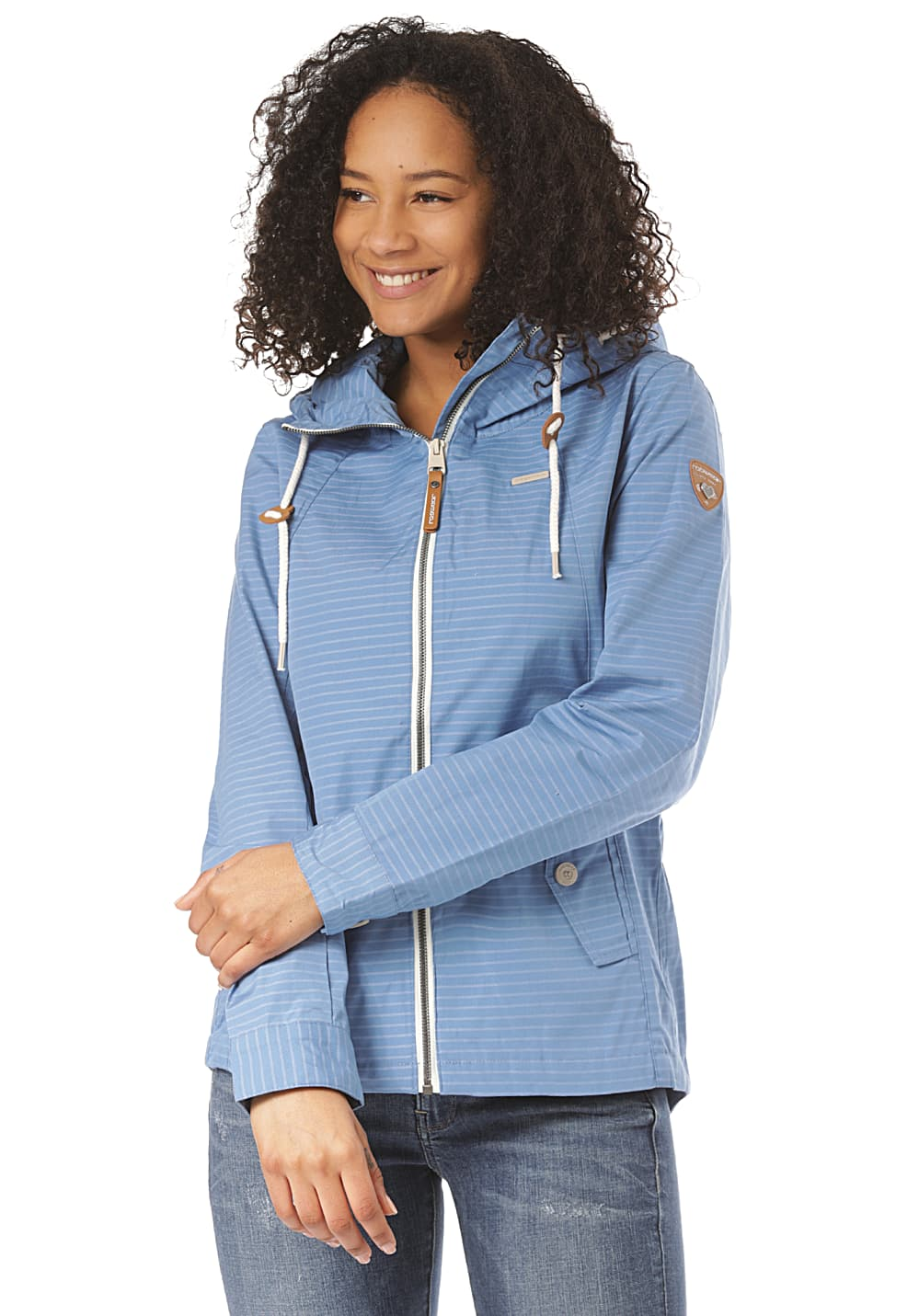 Jacken - ragwear Monade Stripes Jacke für Damen Blau  - Onlineshop Planet Sports