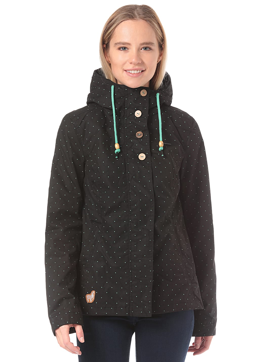 Jacken - ragwear Lynx Dots für Damen Schwarz  - Onlineshop Planet Sports